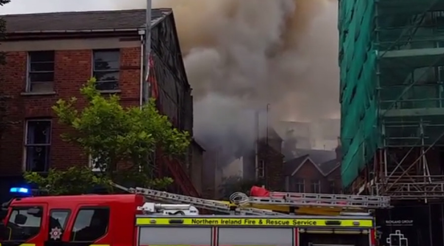 Major blaze breaks out on Belfast's Victoria Street (PHOTOS, VIDEOS)
