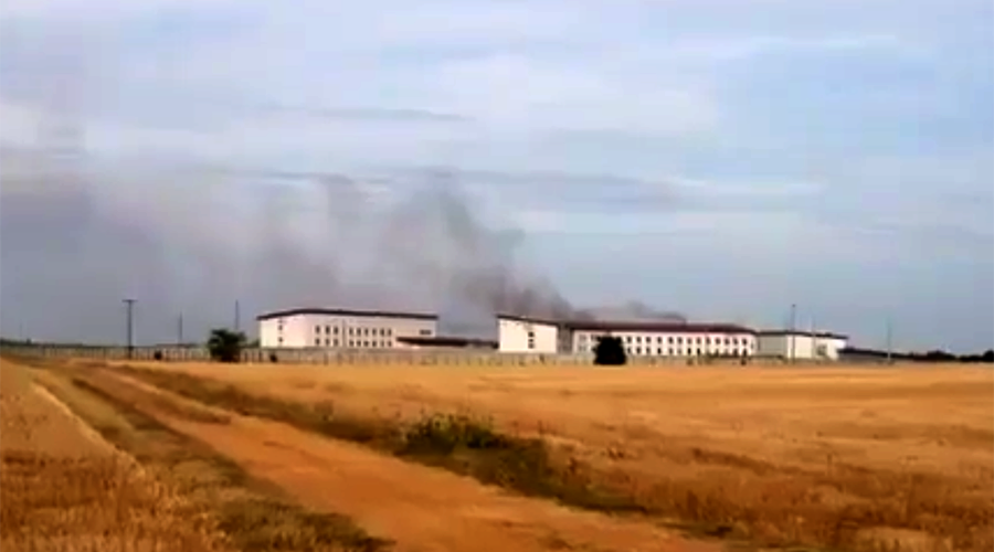 Riot & fire at Poitiers-Vivonne prison in western France (VIDEO, PHOTOS)