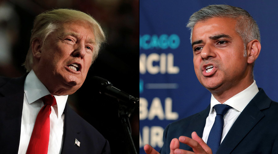 Republican presidential nominee Donald Trump and mayor of London Sadiq Khan  © Reuters