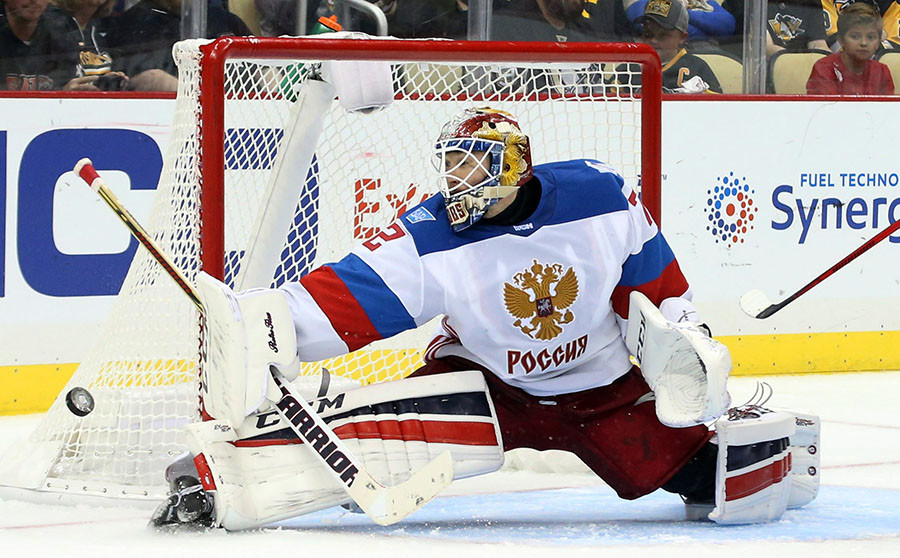 Team Russia goalie Sergei Bobrovsky © Charles LeClaire-USA TODAY Sports