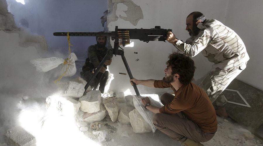 Free Syrian Army fighters. ©Hosam Katan