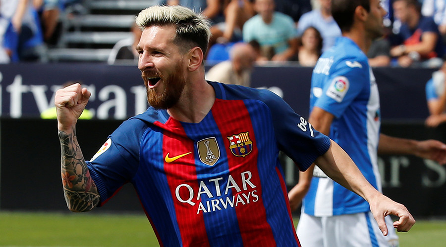 Messi marks 16 years at Barcelona by scoring two goals in 5-1 win