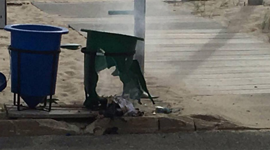 Pipe bomb detonates along route of 5km US Marines charity race in New Jersey