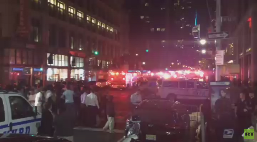 CCTV camera captures alleged moment of Manhattan explosion (VIDEO)