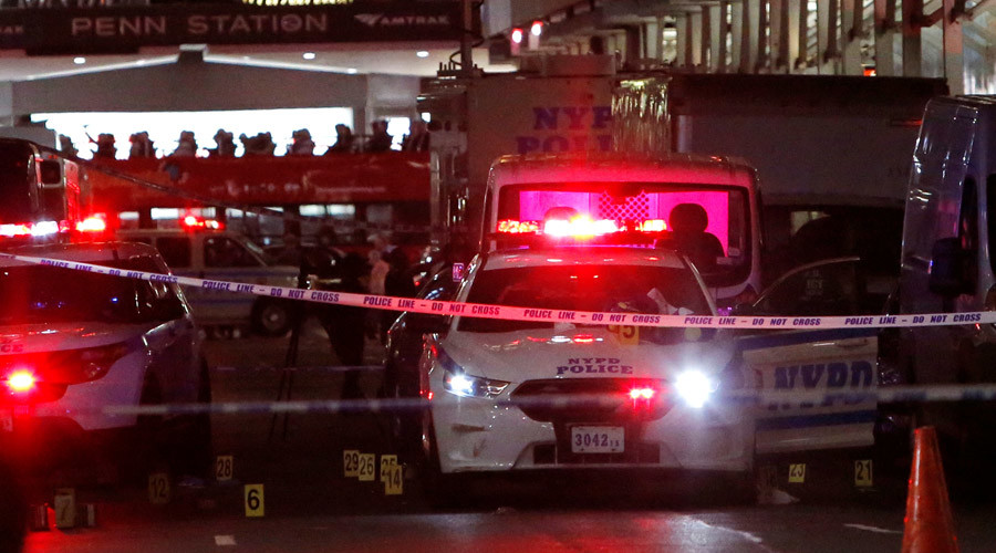 Bomb blast at New Jersey train station as robot tries to disarm device