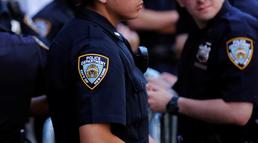 New York Police Department officers. © Lucas Jackson