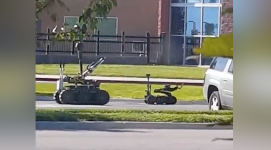Masked intruder enters elementary school in Utah, bomb squad and snipers at scene (VIDEO)