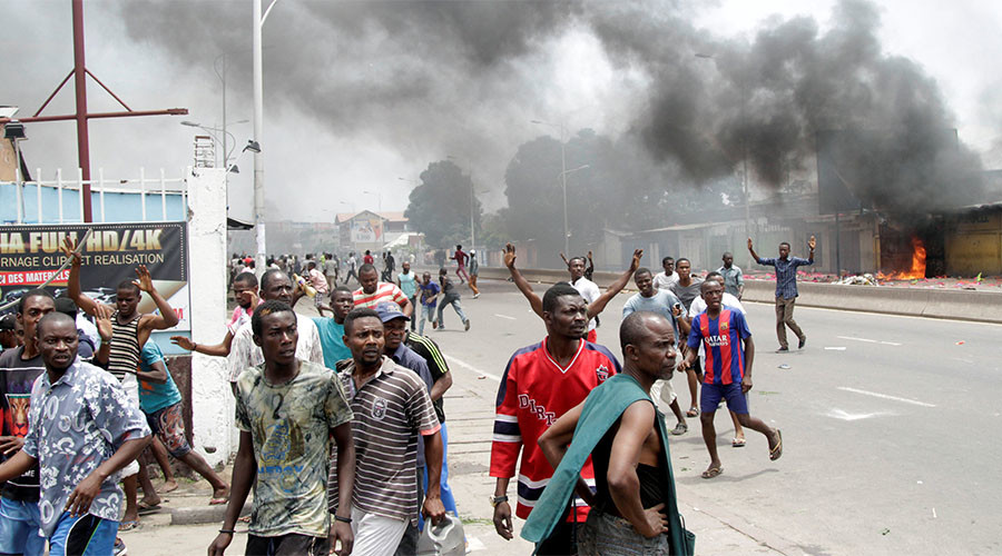 Up to 50 killed, police officer 'burned alive' during anti-govt protests in Congo (VIDEO)