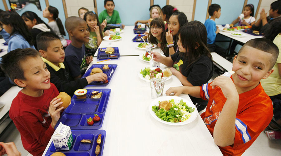 In America, if your parents owe $25, they take your school lunch