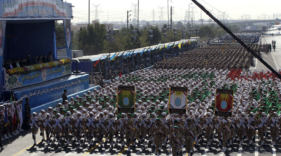 Iran displays military might in nationwide parades, warns US to keep out of Gulf