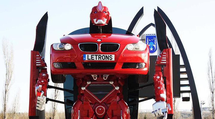 Transformers brought to life in bizarre shape-shifting BMW vehicle (VIDEO)
