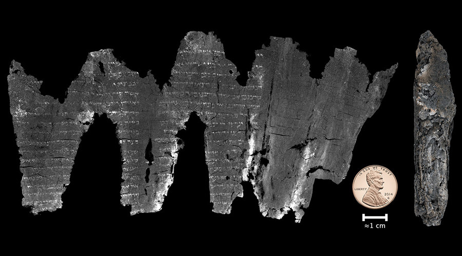 Completed virtual unwrapping for the En-Gedi scroll. © advances.sciencemag.org