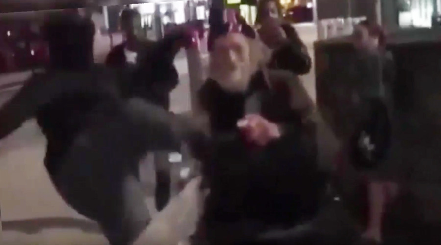 Thug jump-kicks homeless man in 'disgusting' attack (VIDEO)
