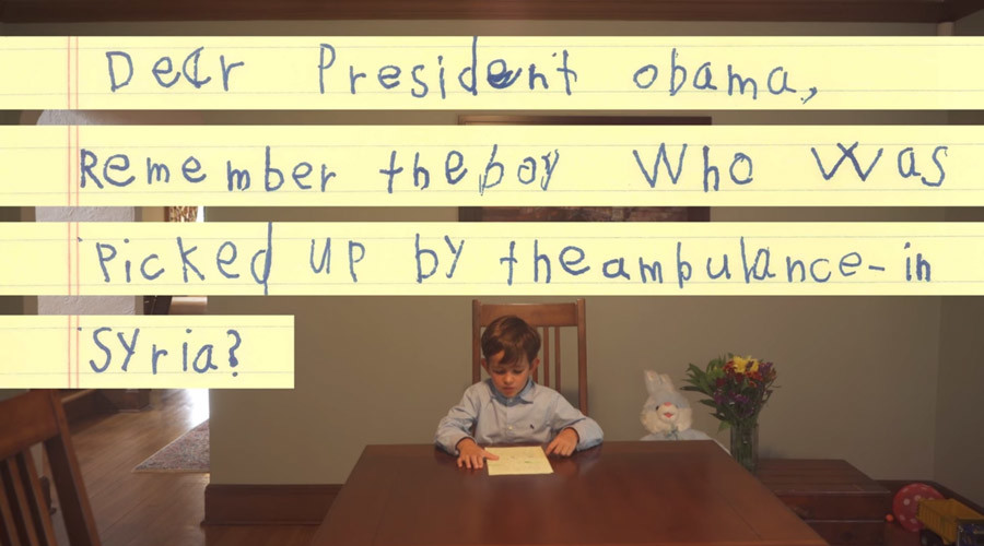 'He will be our brother': 6-yo American writes to Obama, offers his home to Syrian boy