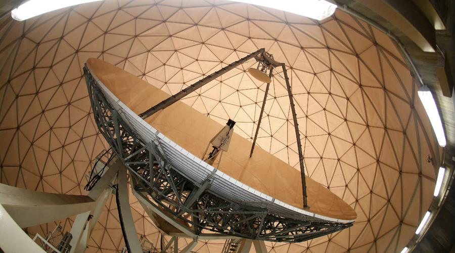 A parabolic reflector at the former monitoring base of the National Security Agency (NSA) © Michaela Rehle