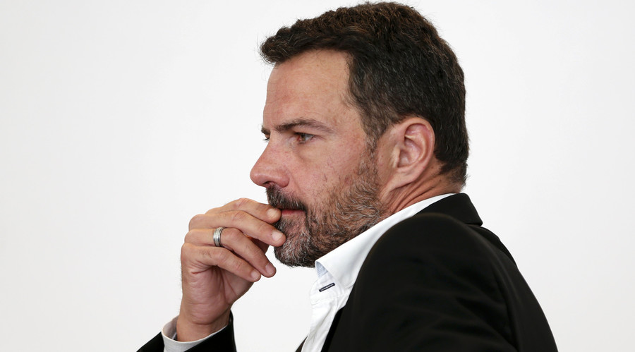 Former trader Jerome Kerviel stands inside the courthouse in Versailles, France, September 23, 2016. © Charles Platiau