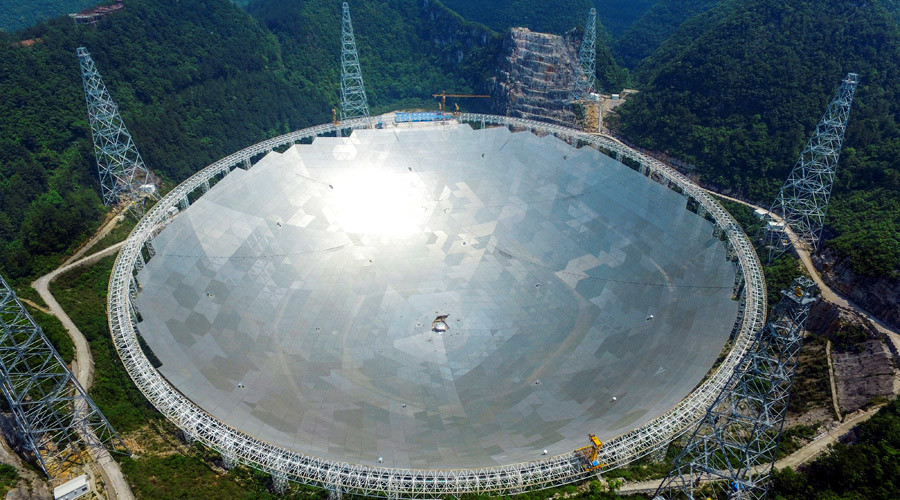 China launches world's largest radio telescope, 500m in diameter