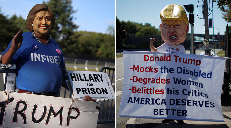Protesters arrested outside presidential debate venue