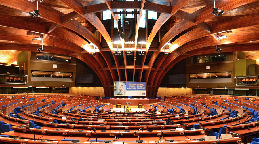 The hemicycle of the PACE at the Palace of Europe © Adrian Grycuk
