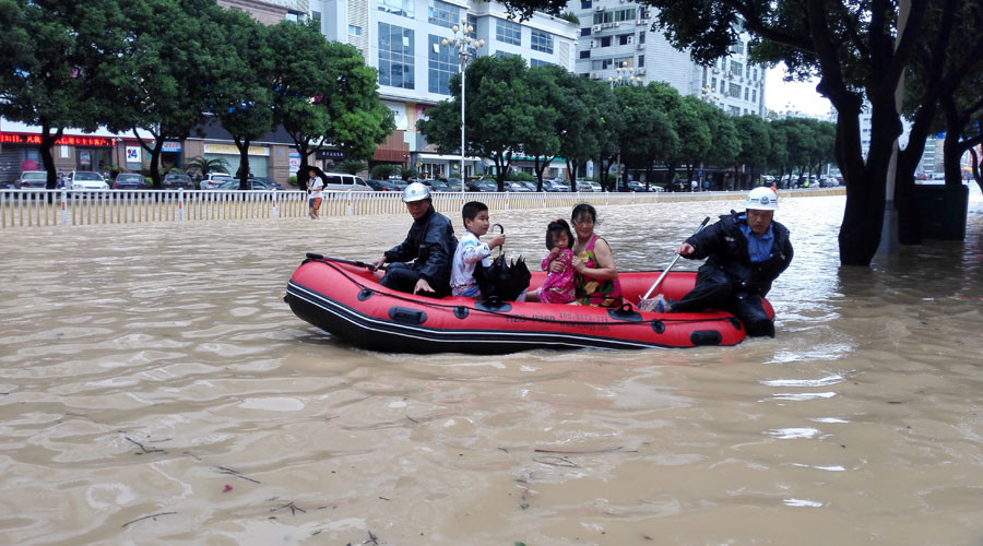 Dozens missing after Typhoon Megi triggers major landslide in China (VIDEO)