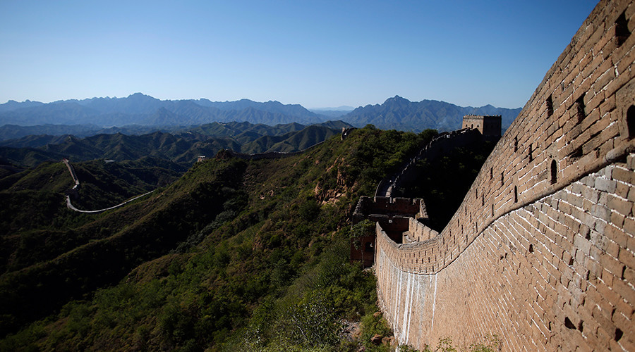 A section of the Great Wall of China is pictured at Simatai, located in the outskirts of Beijing, China © Benoit Tessier