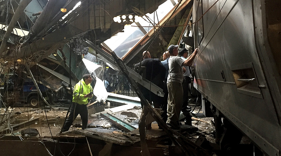 Twisted metal, torn train: First videos from New Jersey train crash in Hoboken