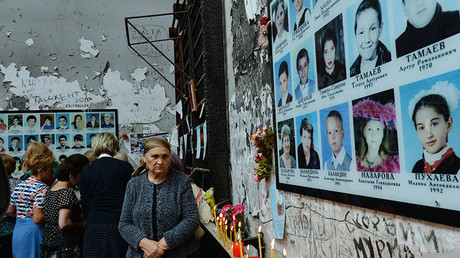 Participants of memorial events in Beslan on September 1. © Said Tsarnaev