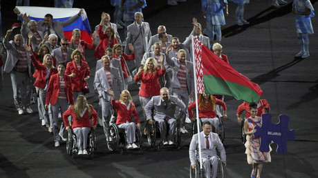 Athletes from Belarus take part in the opening ceremony of Rio Paralympics on September 7, 2016 © Sergio Moraes