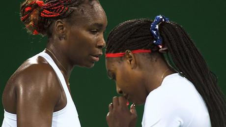 Serena Williams (USA) of USA and Venus Williams (USA) of USA © Toby Melville
