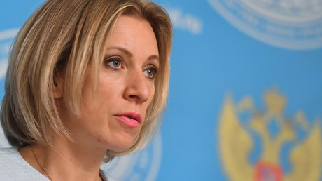 Russian Foreign Ministry Spokesperson Maria Zakharova at a briefing on current foreign policy issues. © Alexey Kudenko