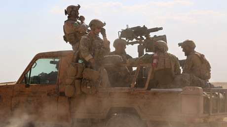 FILE PHOTO: US special operations forces in Syria. ©  DELIL SOULEIMAN