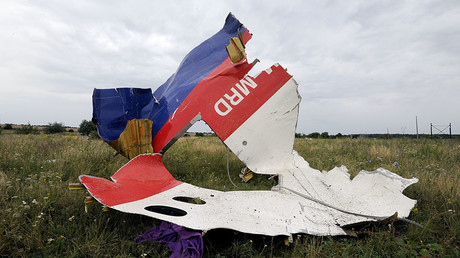 A piece of wreckage of the Malaysia Airlines flight MH17 is pictured on July 18, 2014 in Shaktarsk, the day after it crashed. © Dominique Faget