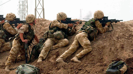 British soldiers near Basra in southern