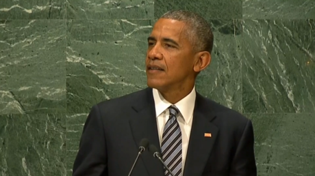 US President Barack Obama addresses the UN General Assembly in New York on September 20, 2016 © RT
