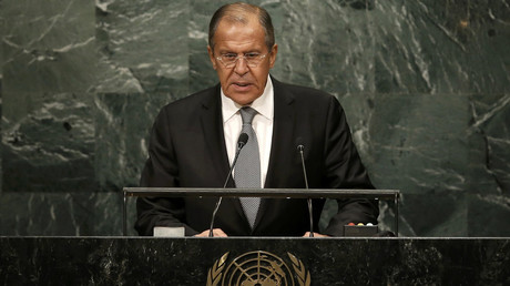 Russian Foreign Minister Sergey Lavrov addresses the 71st United Nations General Assembly in the Manhattan borough of New York, U.S., September 23, 2016. © Mike Segar