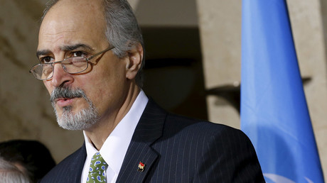 Syrian government negotiator Bashar Ja'afari © Denis Balibouse