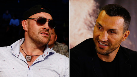 Tyson Fury (L) and Wladimir Klitschko © Reuters