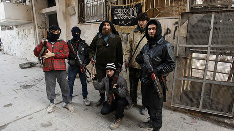 Members of Islamist Syrian rebel group Jabhat al-Nusra. © Molhem Barakat