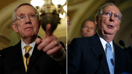 U.S. Senate Minority Leader Harry Reid (D-NV) (L) and U.S. Majority Leader Mitch McConnell (R-KY) (R). ©Reuters
