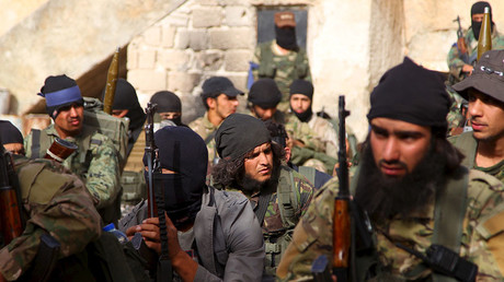 Al Qaeda-linked Nusra Front fighters. © Ammar Abdullah