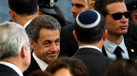 Former French President Nicolas Sarkozy is seen upon his arrival to attend the funeral of former Israeli President Shimon Peres at Mount Herzl cemetery in Jerusalem September 30, 2016 © Baz Ratner