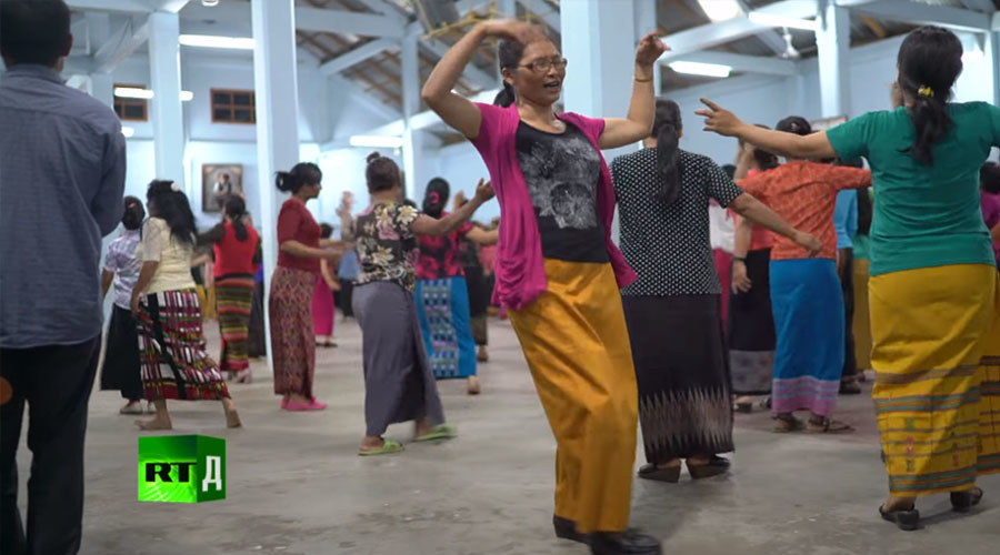 Dancing is a key part of the cult's religious philosophy © RT Documentary