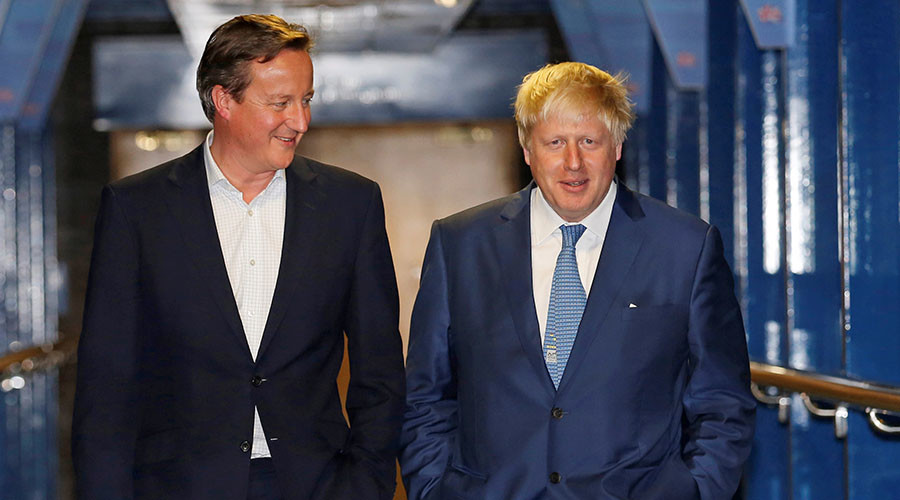 Boris & Cameron settle Brexit feud over whiskey in Jerusalem… freezing out 'backstabber' Gove
