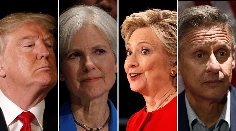 Trump, Stein, Clinton or Johnson? ©Reuters