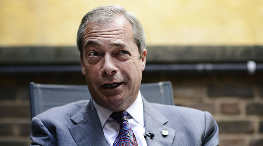 Former UKIP leader Nigel Farage. © Dylan Martinez