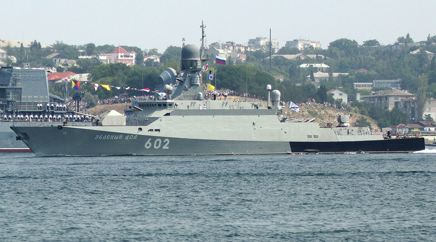 2 Russian ships take cruise missiles to Mediterranean for Syrian anti-terror op