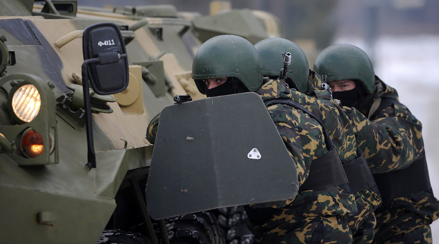 The exercise of the Interior Ministry's tactical and counter-terrorism units. © Grigoriy Sisoev