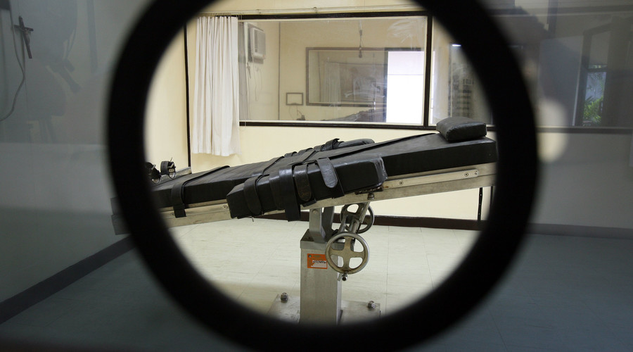 "A view of the ""lethal injection chamber"" ©"