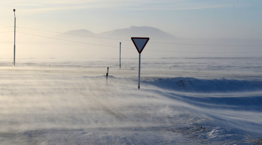 Road sign not far from Anadyr. © Konstantin Chalabov