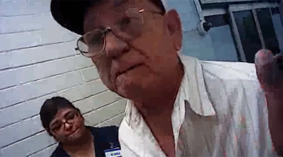 Elderly man sues Texas cop for allegedly breaking his ribs in WalMart altercation (VIDEO)